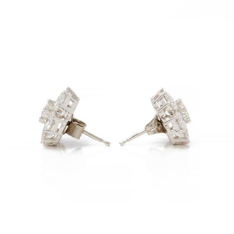 3e0611501 Code: COM2177 Brand: Boodles Description: 18k White Gold Diamond Cluster  Stud Earrings Accompanied