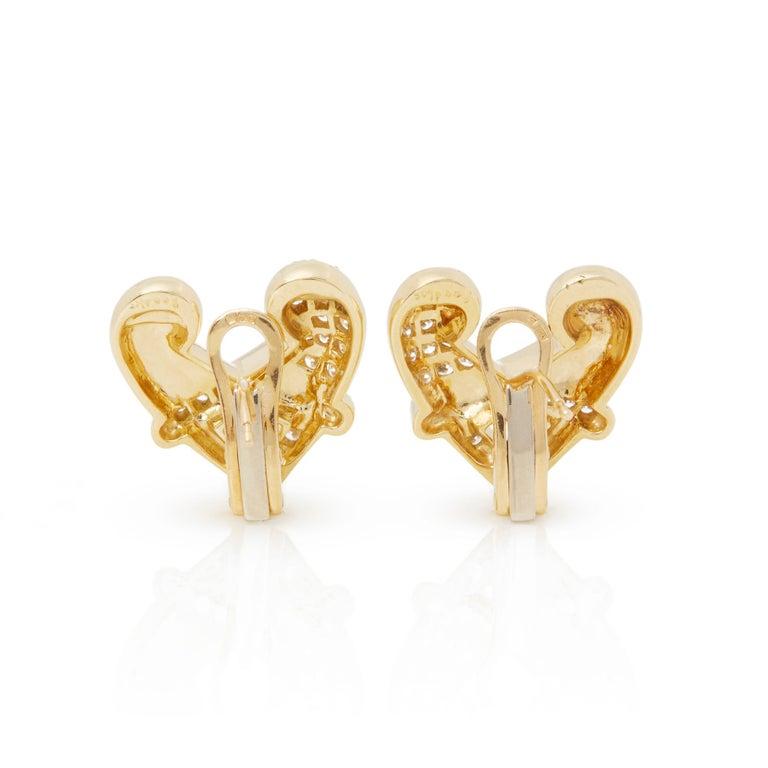 Boodles 18 Karat Yellow Gold Round Cut Diamond Hug Earrings In Excellent Condition In Bishop's Stortford, Hertfordshire