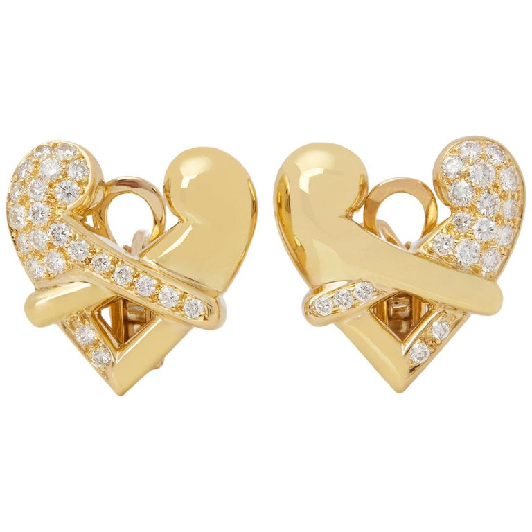 ef0807d3c90 Boodles 18 Karat Yellow Gold Round Cut Diamond Hug Earrings
