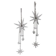 "Boodles Diamond ""Cabaret"" Hoop Earrings with Stars"