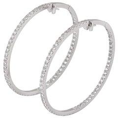 Boodles Diamond Hoop Earrings 4.41 Carat