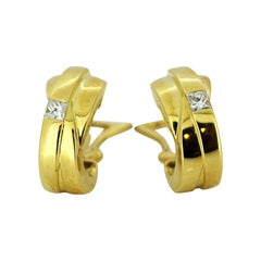 Boodles & Dunthorne, 18 Karat Gold Clip-On Earrings with Diamonds