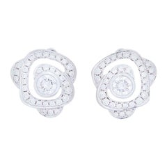 Boodles Maymay Rose Diamond Stud Earrings