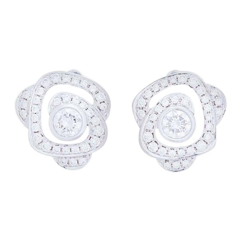 Boodles Maymay Rose Diamond Stud Earrings For Sale