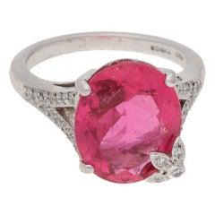 Boodles Rubelite Diamond Dress Ring