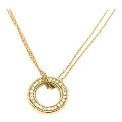 Boodles Small Roulette Yellow Gold Diamond Pendant
