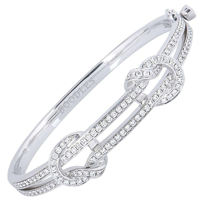 Boodles The Knot Diamond Bangle 1 80 Carat At 1stdibs