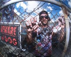 Beware Half of Square by street art photographer boogieREZ aka REZ ONES, fisheye