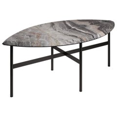 Book 1 Contemporary Coffee Table in Marble and Metal by Artefatto Design Studio