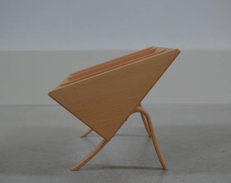 Scandinavian Modern 'Book Crib' by Bruno Mathsson, Swedish Modern Books and Magazine Holder For Sale