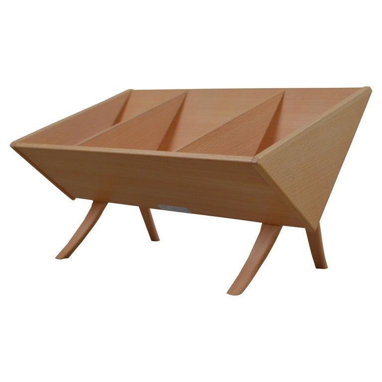 'Book Crib' by Bruno Mathsson, Swedish Modern Books and Magazine Holder For Sale