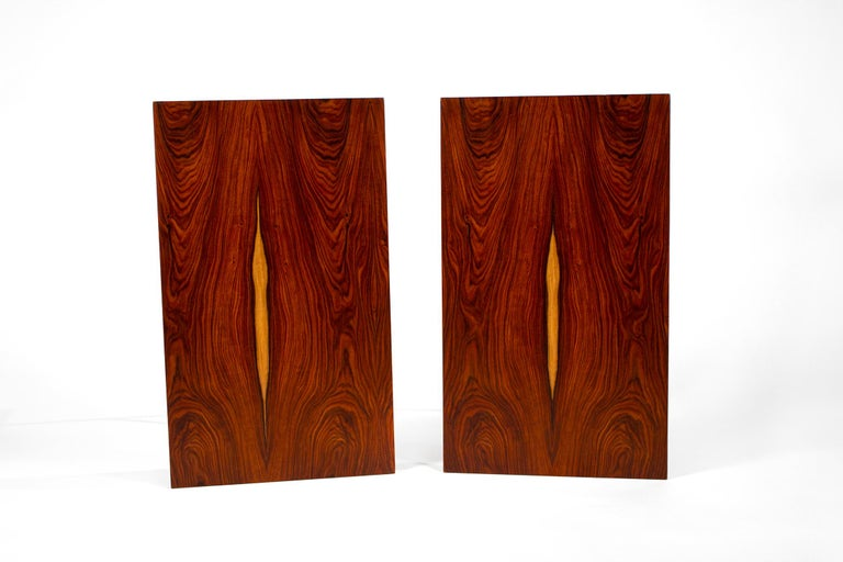 Mid-Century Modern Bookmatched Rosewood Irwin Collection Side Tables by Paul McCobb for Calvin For Sale