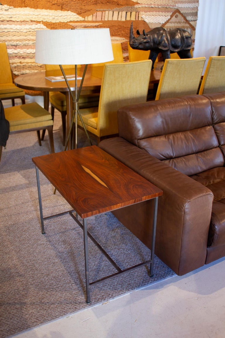 American Bookmatched Rosewood Irwin Collection Side Tables by Paul McCobb for Calvin For Sale
