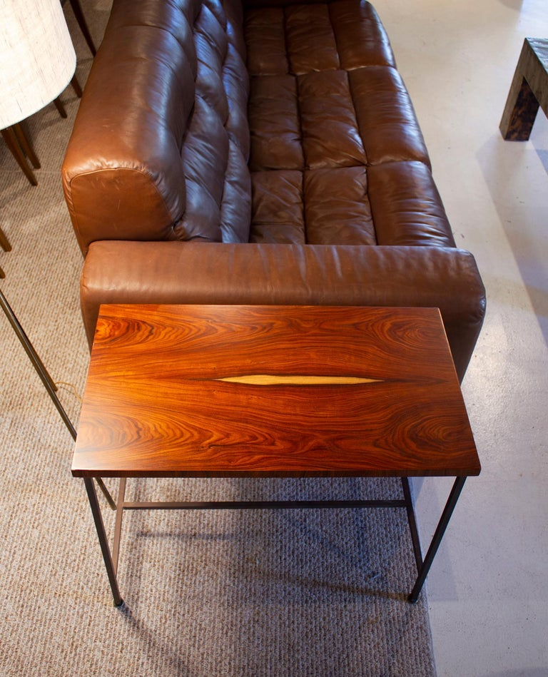 Bookmatched Rosewood Irwin Collection Side Tables by Paul McCobb for Calvin In Good Condition For Sale In Dallas, TX
