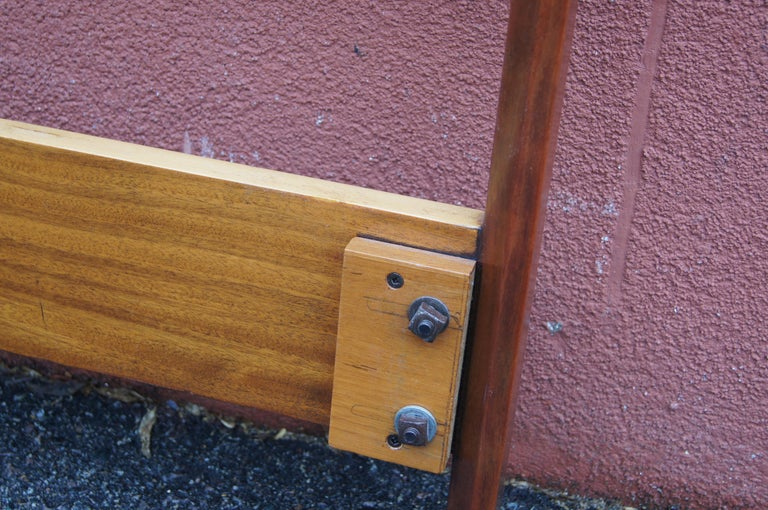 Bookmatched Rosewood and Walnut Queen Headboard by Westnofa For Sale 1