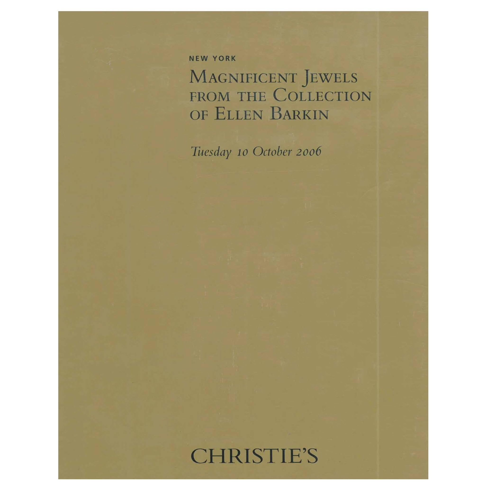 Book of Magnificent Jewels from the Collection of Ellen Barkin, Christie's
