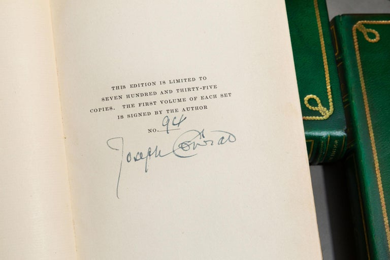 American 'Book Set' 24 Volumes, Joseph Conrad, Works, Sun-Dial Edition, Signed For Sale