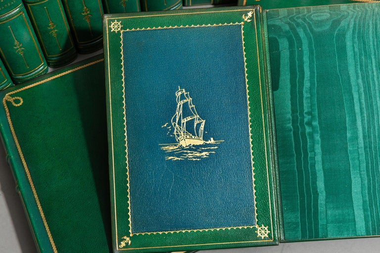 'Book Set' 24 Volumes, Joseph Conrad, Works, Sun-Dial Edition, Signed In Good Condition For Sale In New York, NY