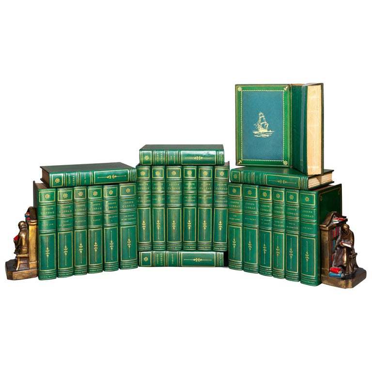 'Book Set' 24 Volumes, Joseph Conrad, Works, Sun-Dial Edition, Signed For Sale