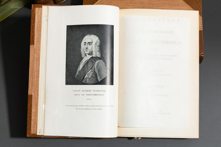 American 'Book Set', 5 Volumes, Lord Chesterfield, Lettters For Sale