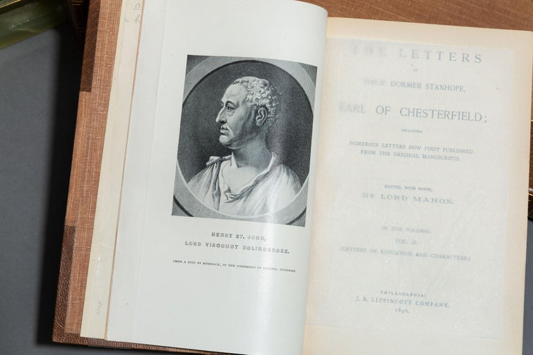 'Book Set', 5 Volumes, Lord Chesterfield, Lettters In Good Condition For Sale In New York, NY