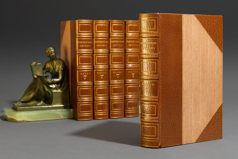 Late 19th Century 'Book Set', 5 Volumes, Lord Chesterfield, Lettters For Sale