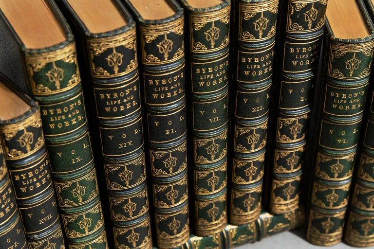 English 'Book sets' 17 Volumes, Lord Byron, The Works For Sale