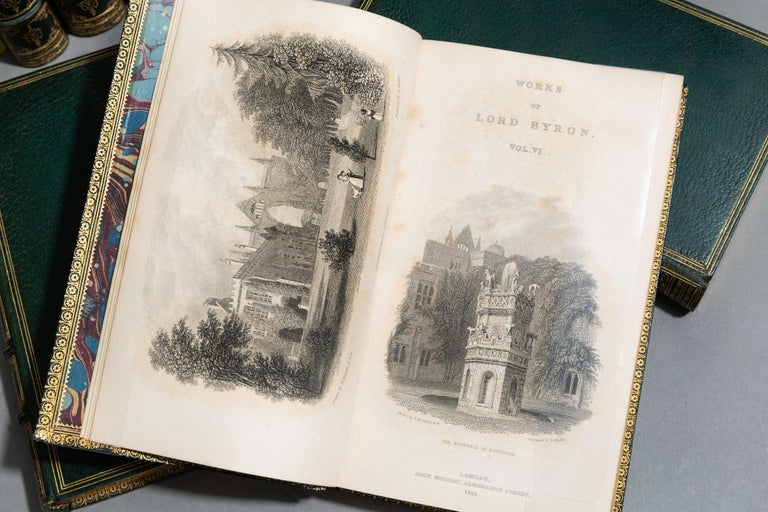 'Book sets' 17 Volumes, Lord Byron, The Works In Good Condition For Sale In New York, NY