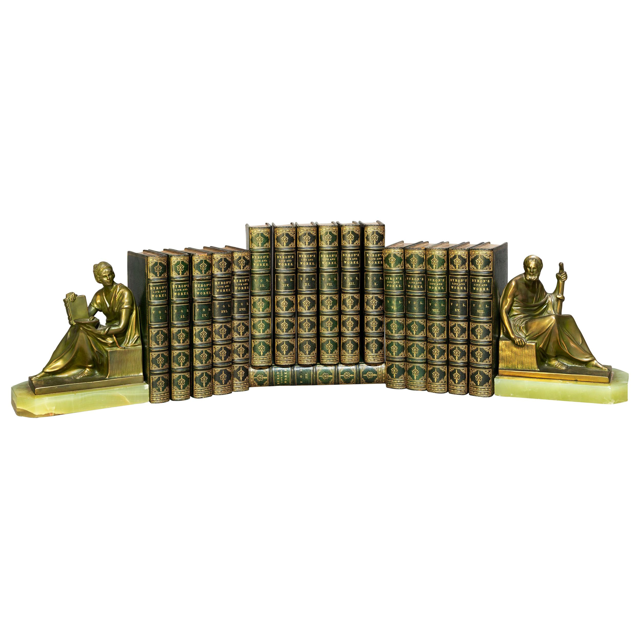 'Book sets' 17 Volumes, Lord Byron, The Works