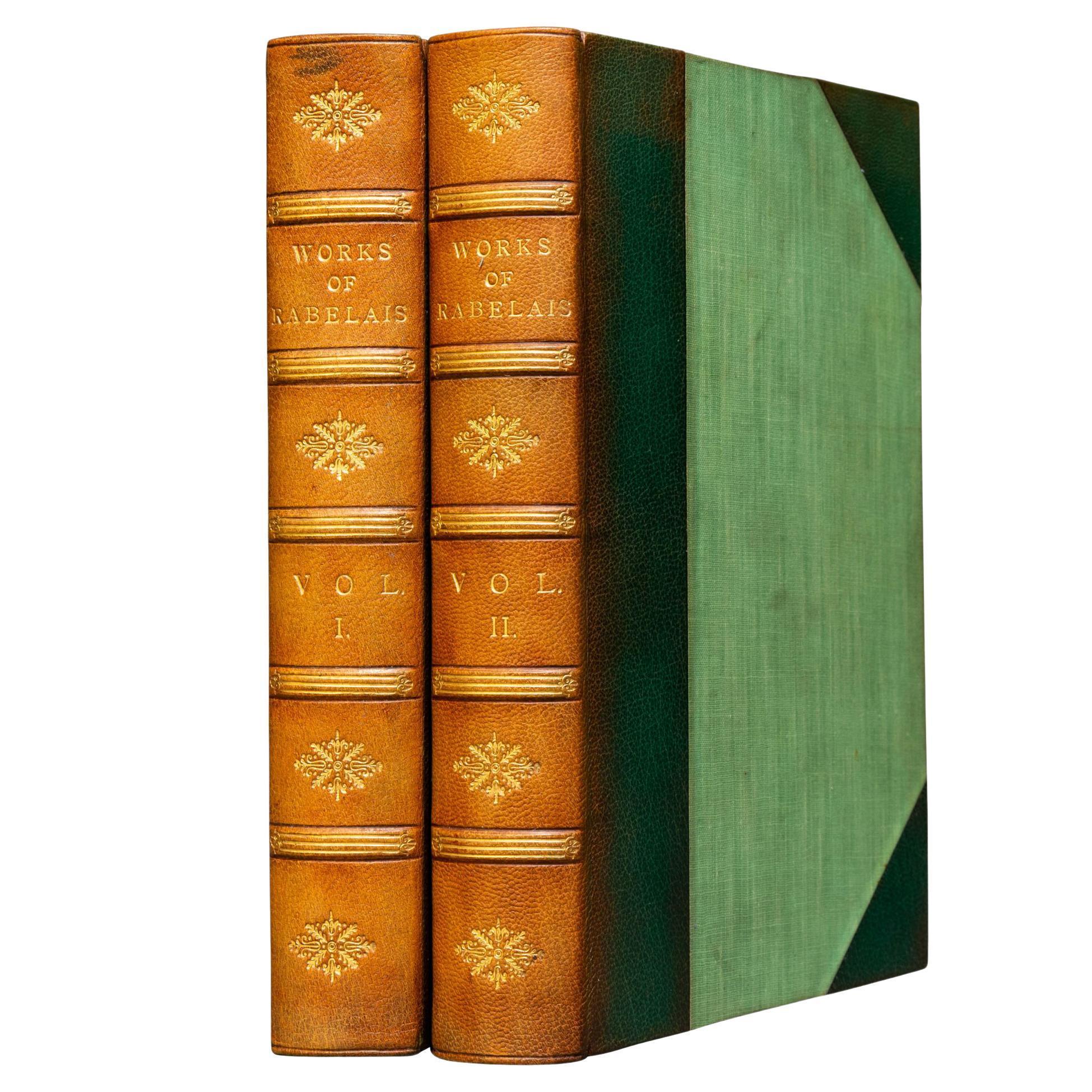 'Book Sets' 2 Volumes, Francois Rabelais, The Complete Works