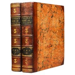'Book Sets' 2 Volumes, James S. Clarke, The Life of Admiral Lord Nelson