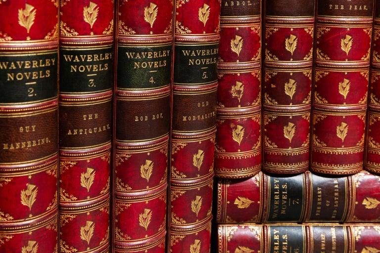 Mid-19th Century 'Book Sets', 25 Volumes, Sir Walter Scott, Waverley Novels