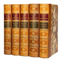 'Book Sets' 5 Volumes, Washington Irving, Life Of George Washington