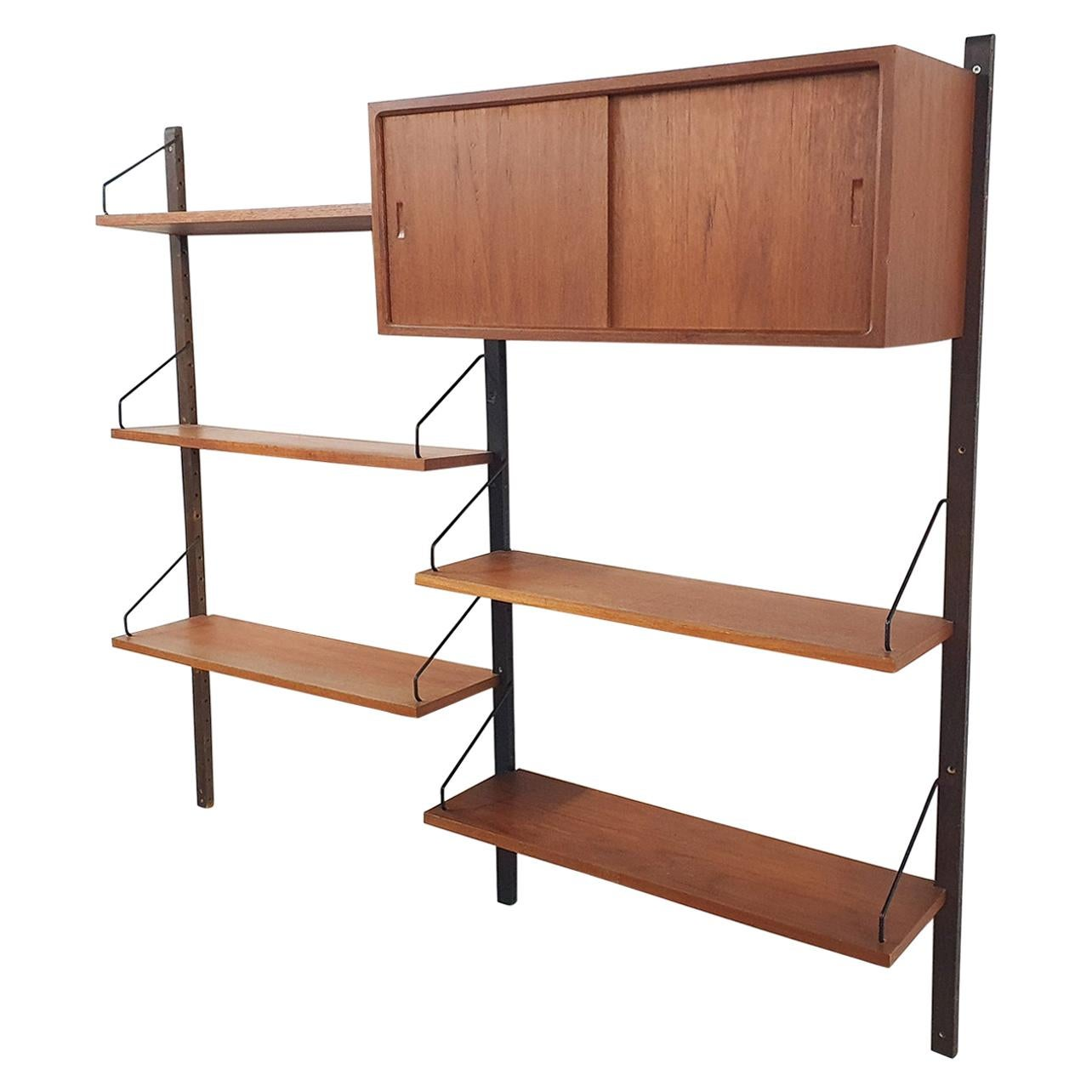 Book Shelves by Poul Cadovius for Royal System, Teak Wall Unit, Denmark, 1950s