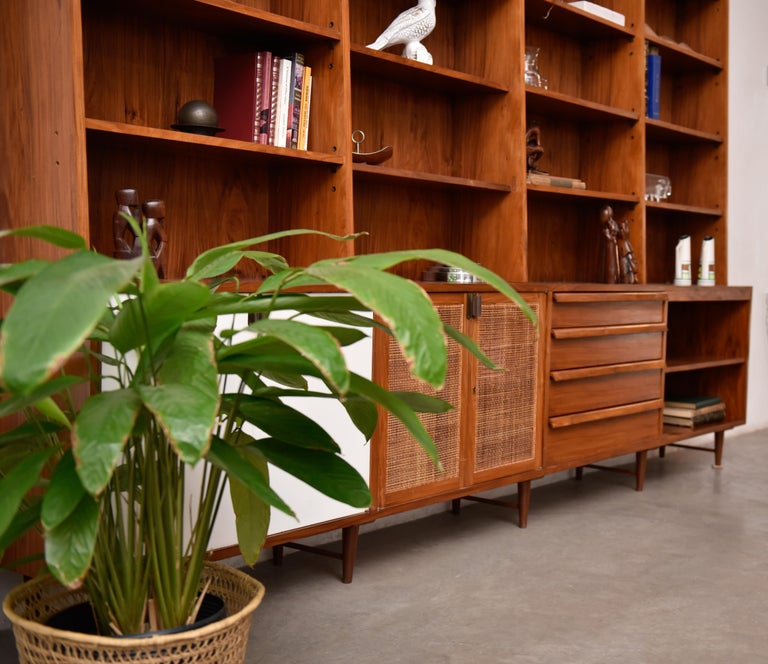 Brazilian Bookcase by Teperman 50's For Sale