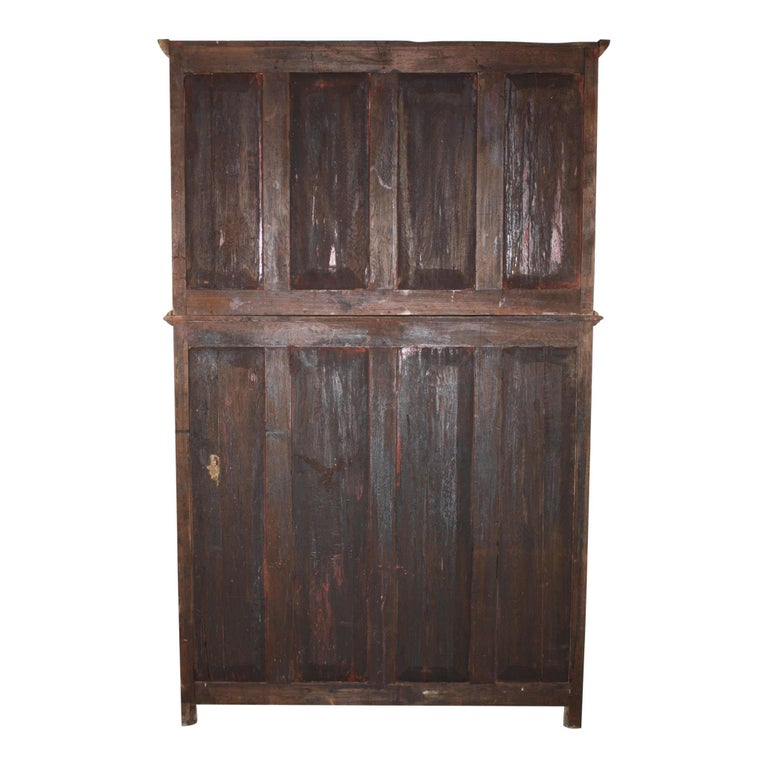 Bookcase/Cabinet with Sliding Glass Doors, circa 1950 For Sale 1