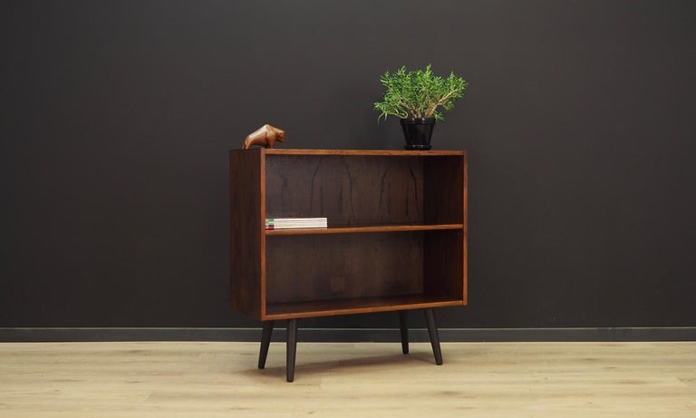Mid-Century Modern Bookcase Danish Design Rosewood Vintage For Sale