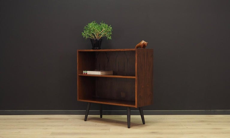Veneer Bookcase Danish Design Rosewood Vintage For Sale