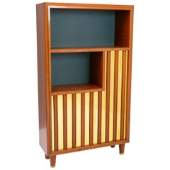 Bookcase/ Decorative Storage, Swedish Modern with Relief Front, 1940s