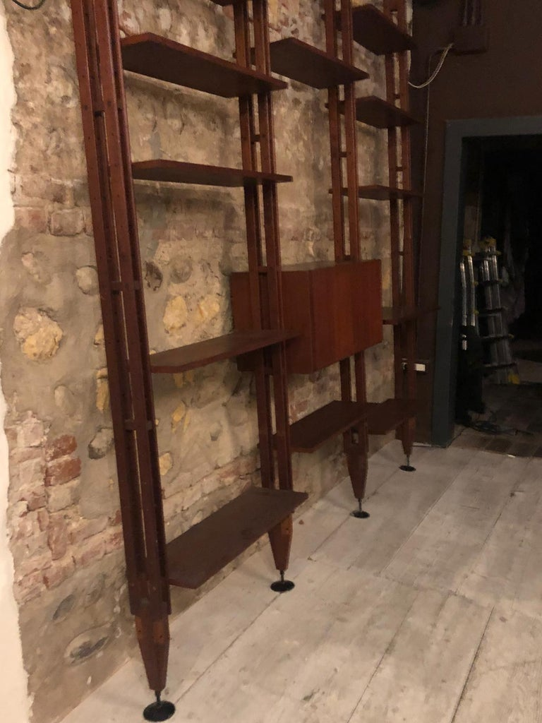 Mid-20th Century Bookcase Franco Albini Model LB7 For Sale