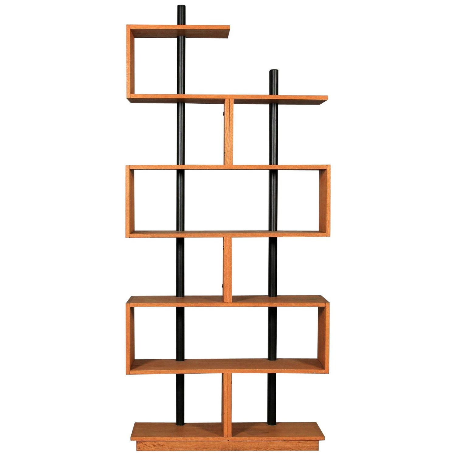 Bookcase Freestanding Teak Ebonized Charlotte Perriand after