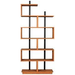 Bookcase Freestanding Teak Ebonized Charlotte Perriand after