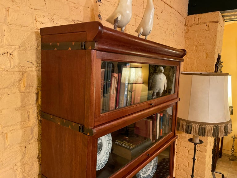 Bookcase from Globe Wernicke Called Stacking Bookcase in Mahogany-5 Elements For Sale 4