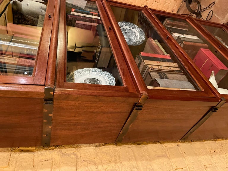 Bookcase from Globe Wernicke Called Stacking Bookcase in Mahogany-5 Elements For Sale 2