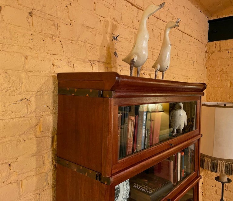 Bookcase from Globe Wernicke Called Stacking Bookcase in Mahogany-5 Elements For Sale 3