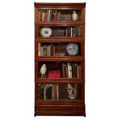 Bookcase from Globe Wernicke Called Stacking Bookcase in Mahogany-5 Elements