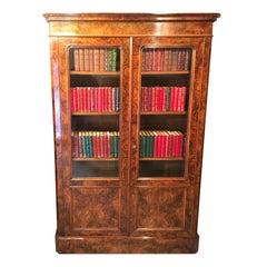 Bookcase. Walnut Bookcase.  Circa 1880