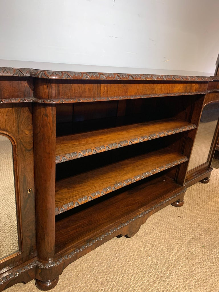 Victorian Bookcase Long and Low For Sale