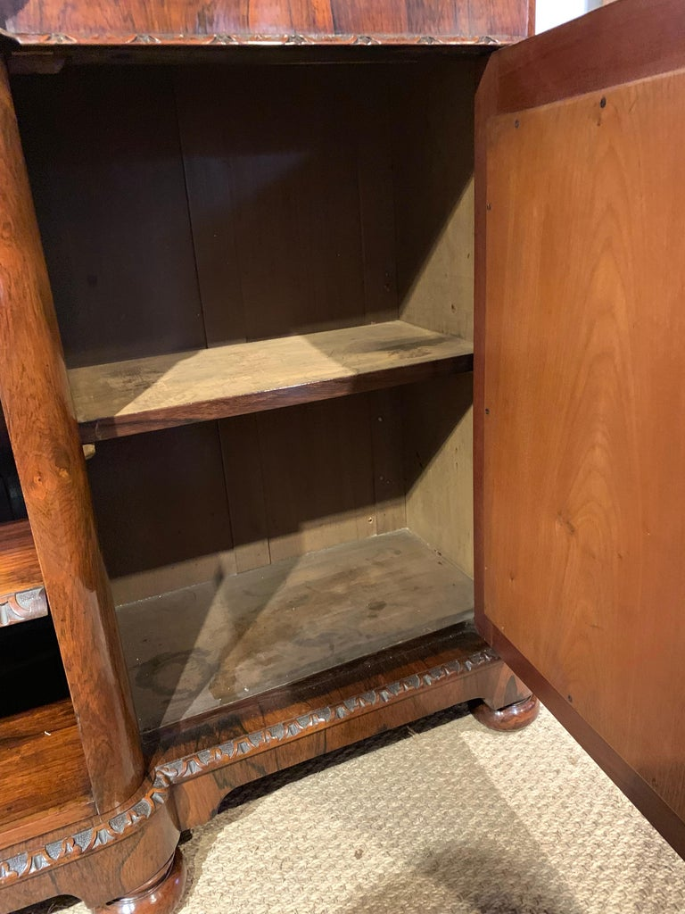 Hardwood Bookcase Long and Low For Sale