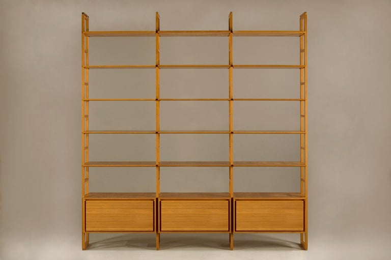 Bookcase Made of Cherrywood In New Condition For Sale In Salizzole, IT